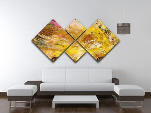 Abstract background by acrylic paint 4 Square Multi Panel Canvas  - Canvas Art Rocks - 3