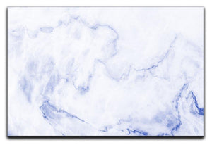 Abstract blue marble patterned Canvas Print or Poster  - Canvas Art Rocks - 1