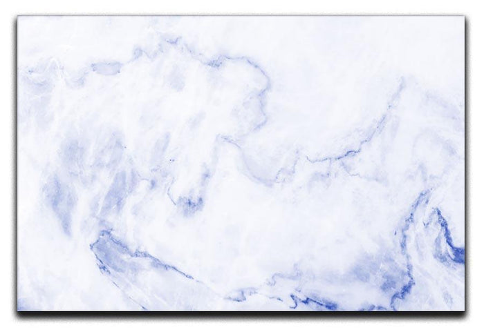 Abstract blue marble patterned Canvas Print or Poster