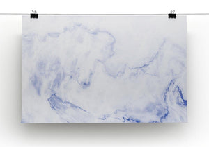 Abstract blue marble patterned Canvas Print or Poster - Canvas Art Rocks - 2