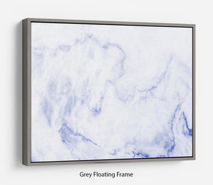 Abstract blue marble patterned Floating Frame Canvas