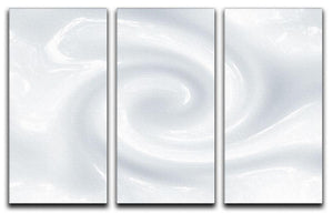 Abstract milk circulation 3 Split Panel Canvas Print - Canvas Art Rocks - 1