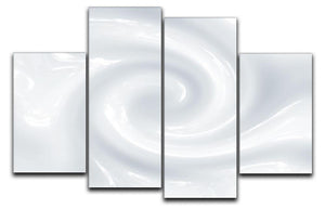 Abstract milk circulation 4 Split Panel Canvas  - Canvas Art Rocks - 1
