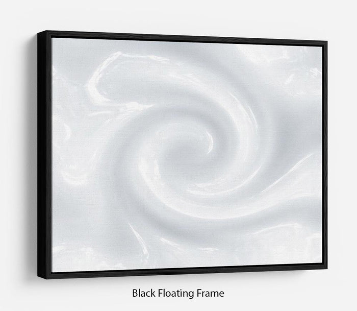 Abstract milk circulation Floating Frame Canvas