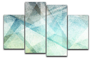 Abstract paper geometric 4 Split Panel Canvas  - Canvas Art Rocks - 1
