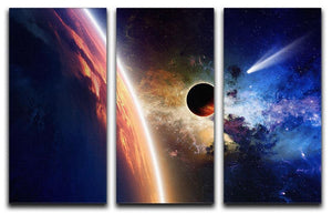 Abstract scientific background 3 Split Panel Canvas Print - Canvas Art Rocks - 1