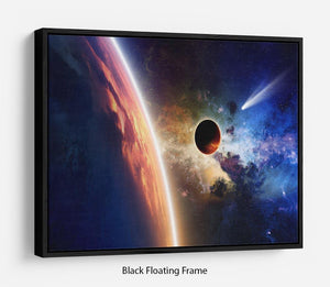 Abstract scientific background Floating Frame Canvas