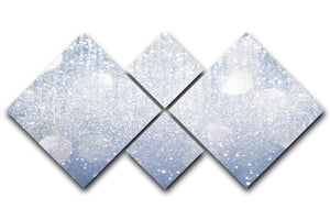 Abstract silver lights 4 Square Multi Panel Canvas  - Canvas Art Rocks - 1