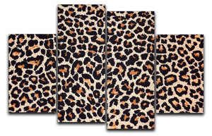 Abstract texture of leopard 4 Split Panel Canvas  - Canvas Art Rocks - 1