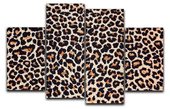 Abstract texture of leopard 4 Split Panel Canvas