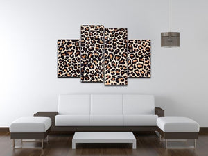 Abstract texture of leopard 4 Split Panel Canvas  - Canvas Art Rocks - 3