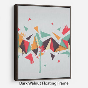 Abstract texture with triangles Floating Frame Canvas