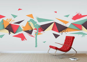 Abstract texture with triangles Wall Mural Wallpaper - Canvas Art Rocks - 2