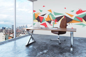 Abstract texture with triangles Wall Mural Wallpaper - Canvas Art Rocks - 3