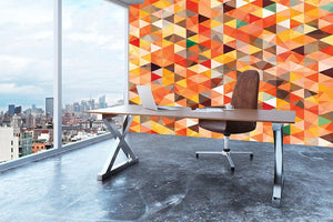 Abstract triangle seamless Wall Mural Wallpaper - Canvas Art Rocks - 3