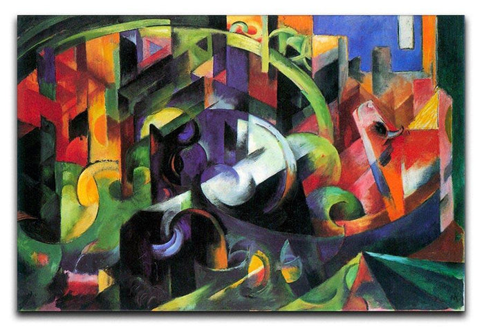 Abstract with cattle by Franz Marc Canvas Print or Poster