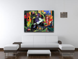 Abstract with cattle by Franz Marc Canvas Print or Poster - Canvas Art Rocks - 4