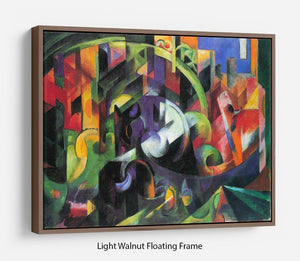 Abstract with cattle by Franz Marc Floating Frame Canvas