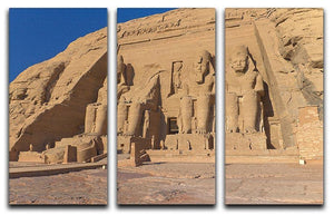 Abu Simbel Temple of King Ramses II 3 Split Panel Canvas Print - Canvas Art Rocks - 1