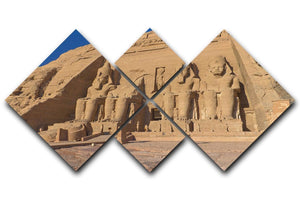 Abu Simbel Temple of King Ramses II 4 Square Multi Panel Canvas  - Canvas Art Rocks - 1