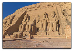 Abu Simbel Temple of King Ramses II Canvas Print or Poster  - Canvas Art Rocks - 1