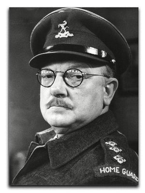 Actor Arthur Lowe as Captain Mainwaring Canvas Print or Poster  - Canvas Art Rocks - 1