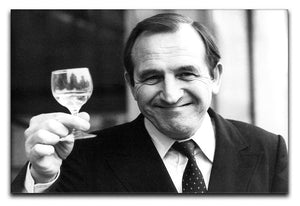 Actor Leonard Rossiter raises a glass Canvas Print or Poster  - Canvas Art Rocks - 1