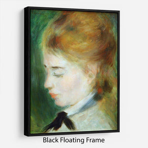 Actress Henriette Henriot by Renoir Floating Frame Canvas