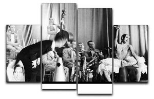 Actress Josephine Baker at the Prince Edward theatre 4 Split Panel Canvas - Canvas Art Rocks - 1