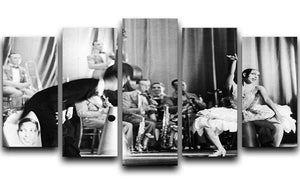 Actress Josephine Baker at the Prince Edward theatre 5 Split Panel Canvas - Canvas Art Rocks - 1