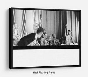 Actress Josephine Baker at the Prince Edward theatre Floating Frame Canvas - Canvas Art Rocks - 1