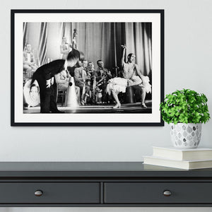 Actress Josephine Baker at the Prince Edward theatre Framed Print - Canvas Art Rocks - 1