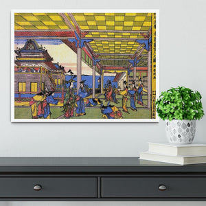 Advent of Urashima at the Dragon palace by Hokusai Framed Print - Canvas Art Rocks -6
