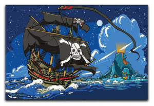 Adventure Time Pirate Ship Sailing Canvas Print or Poster  - Canvas Art Rocks - 1
