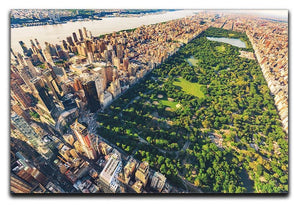 Aerial view looking north up Central Park Canvas Print or Poster  - Canvas Art Rocks - 1