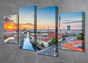 Aerial view of Berlin skyline 4 Split Panel Canvas  - Canvas Art Rocks - 2