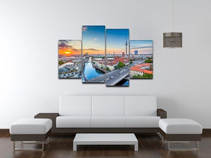 Aerial view of Berlin skyline 4 Split Panel Canvas  - Canvas Art Rocks - 3