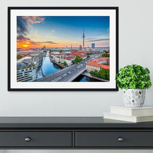 Aerial view of Berlin skyline Framed Print - Canvas Art Rocks - 1