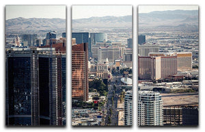 Aerial view of Las Vegas 3 Split Panel Canvas Print - Canvas Art Rocks - 1