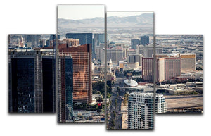 Aerial view of Las Vegas 4 Split Panel Canvas  - Canvas Art Rocks - 1