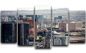 Aerial view of Las Vegas 5 Split Panel Canvas  - Canvas Art Rocks - 1