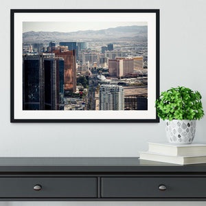 Aerial view of Las Vegas Framed Print - Canvas Art Rocks - 1