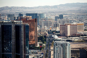 Aerial view of Las Vegas Wall Mural Wallpaper - Canvas Art Rocks - 1