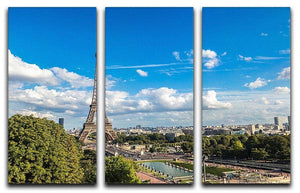 Aerial view of the Eiffel Tower 3 Split Panel Canvas Print - Canvas Art Rocks - 1