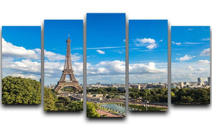 Aerial view of the Eiffel Tower 5 Split Panel Canvas  - Canvas Art Rocks - 1