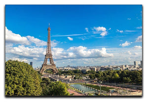 Aerial view of the Eiffel Tower Canvas Print or Poster  - Canvas Art Rocks - 1