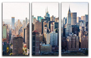 Aerial view of the New York City 3 Split Panel Canvas Print - Canvas Art Rocks - 1