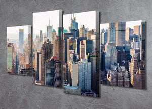Aerial view of the New York City 4 Split Panel Canvas  - Canvas Art Rocks - 2