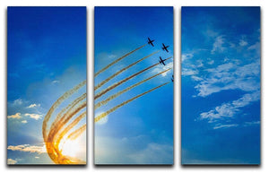 Aerobatic team performs flight 3 Split Panel Canvas Print - Canvas Art Rocks - 1