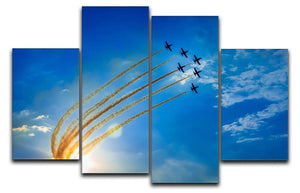 Aerobatic team performs flight 4 Split Panel Canvas  - Canvas Art Rocks - 1